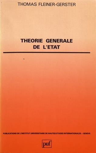 Théorie génerale de l'Etat par  (Broché - Dec 1, 1986)