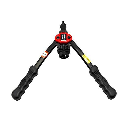 Durable Manual Pull Rivet Nut Gun Riveting Tool Riveter Gun Hand Riveting Kit black (Tool Kit Black)