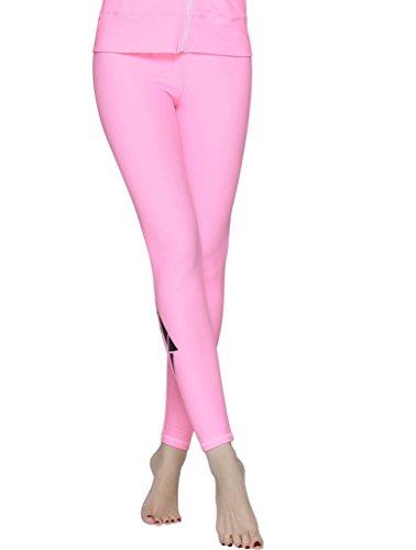 Damen rosa UV Schutz Schwimm Leggings Hose Bademode Watersport Leggin lange XL