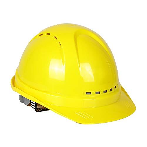 skonstruktionskappe, Verstellbare Ratsche 4 Pt Federung, Robuster Bauhelm, Mehrfarbig Optional (Color : Yellow) ()