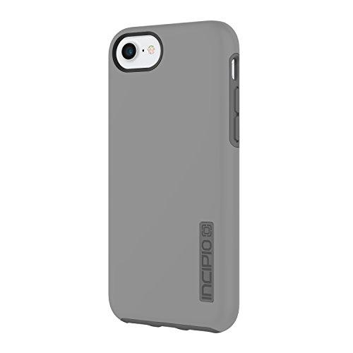 Incipio DualPro Schutzhülle für Apple iPhone 8 / 7 / 6S - grau/dunkelgrau [Extrem robust | Stoßabsorbierend | Soft-Touch Beschichtung | Hybrid] - IPH-1465-GCH