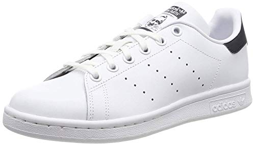 adidas Unisex-Erwachsene Stan Smith Basketballschuhe, Weiß (Running White/New Navy), 39 1/3 EU