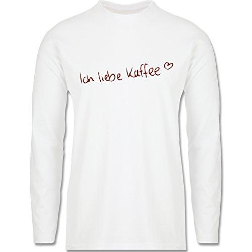 Küche - Ich liebe Kaffee - Longsleeve / langärmeliges T-Shirt für Herren Weiß
