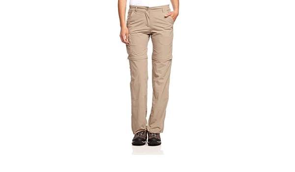 f6ae07ab2b16c Craghoppers NosiLife Convertible Trousers (CWJ1035) - Size 14 - Mushroom -  Long  Amazon.co.uk  Clothing