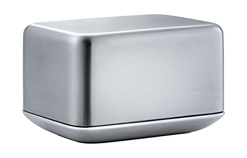 Blomus 63637 Basic-Beurrier Petit Format, Acier Inoxydable, Gris, 10 x 7,2 x 6,8 cm
