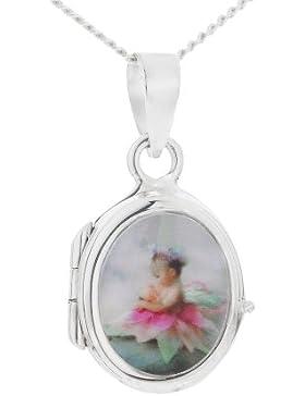 Lisa Jane Mädchenkette mit Medaillon Silber SP634