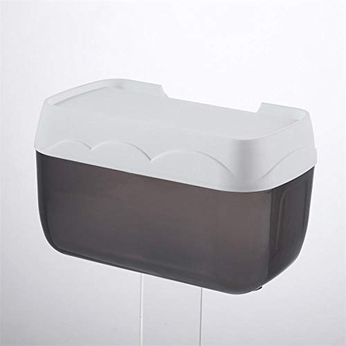 cewin9999 Tissue Box Handtuchhalter Tissue Box Tissue Box Halter Toilette Haushalts Kostenlos Stanzen Kreative wasserdichte Papierrolle Papier Rohr Schw (Rohr Abgedeckt)