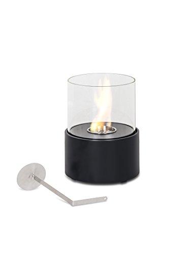 Stones duecilindri caminetto da tavolo al bioetanolo, metallo, nero