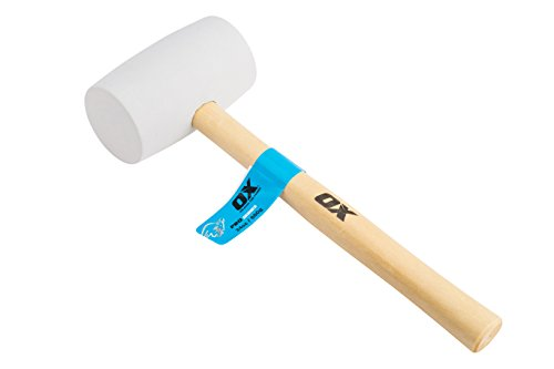 OX Tools P081824 White Pro Rubber Mallet-24 oz, 24 oz