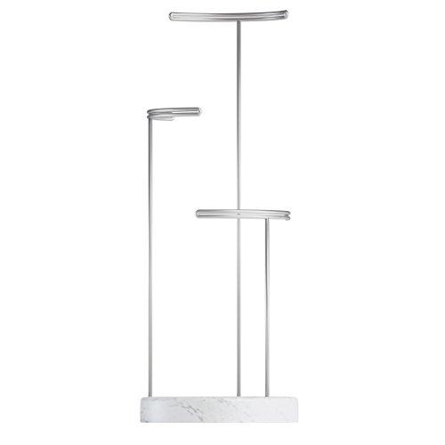 Umbra Tesora Schmuckständer, Metall/Kunstharz, Weiß 42 x 15 x 15 cm