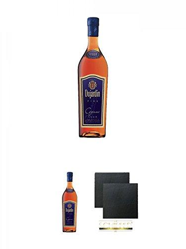 Dujardin Fine Weinbrand 40% 0,7 Liter + Dujardin Fine Weinbrand 40% 0,7 Liter + Schiefer...
