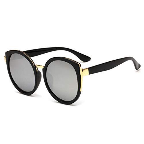 Sonnenbrillen. Runde Sonnenbrille Frauen 2019 Retro Cat Eye Spiegel Big Sun Gläser Hochwertige Marke Design Komfortable Sommer Uv400