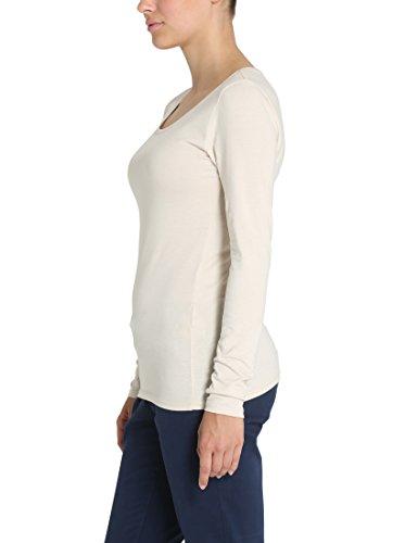 Berydale T-shirt à manches longues slim fit pour femme Beige