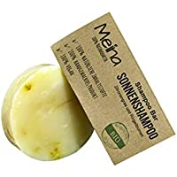 Meina – Pastilla de Champú – Jabón para Pelo con hierbaluisa y caléndula (1 de