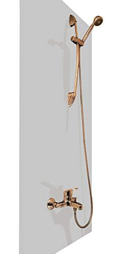 A+H Duschrückwand Wandverkleidung aus hochwertigem PVC, hellgrau, Alternative zu Aluverbund Platten, verschiedenen Farben, 200 x 100 cm