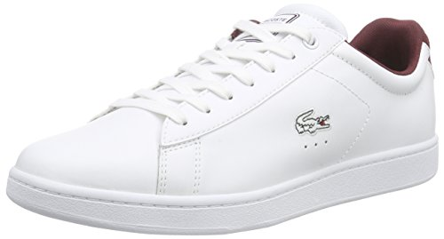 Lacoste Carnaby Evo Wmp, Baskets Basses Homme Blanc - Blanc (21G)