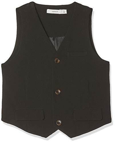NAME IT Jungen Anzugweste NKMINGEMANN Waistcoat NOOS, Schwarz (Black), (Herstellergröße: 164)