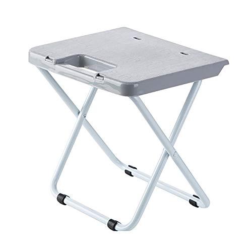 Kunststoff Grau Klappsessel (LIPAI Klappstuhl Kreative Klappstuhl Tragbare Zug Klappstuhl Erwachsenen Kunststoff Stuhl Nach Hause Klappstuhl Hocker Grau 23,5 * 22,25 cm)