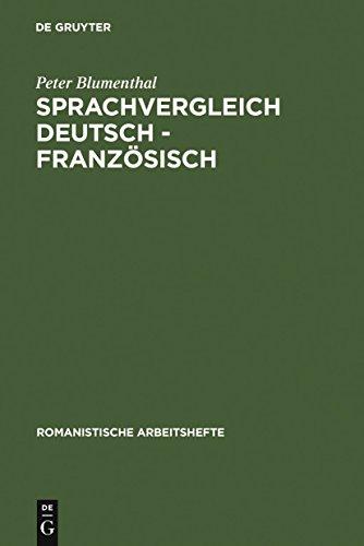 Sprachvergleich Deutsch - Französisch (Romanistische Arbeitshefte)