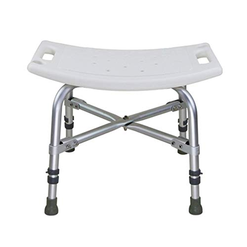 Bad Hocker Senior Bad Stuhl Schwangere Frau Bad Höhenverstellbarer Duschstuhl Behinderten Bad Hocker Bad Stuhl Armlehne Rücken Bad Stuhl (Farbe: Ohne Rückenlehne) (Armlehnen Duschstuhl Ohne)