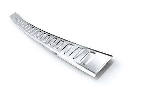 Preisvergleich Produktbild Tuning-Art L371 Edelstahl Ladekantenschutz mit Abkantung fahrzeugspezifische Passform,  Farbe Edelstahl:Silber gebürstet