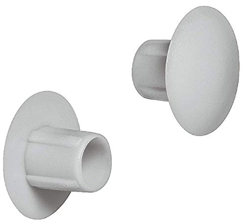 Gedotec Schrauben-Abdeckungen grau Möbel-Abdeckkappen zum Eindrücken Blindstopfen rund - H1120 | Ø 5 mm | für Blindbohrung | 50 Stück