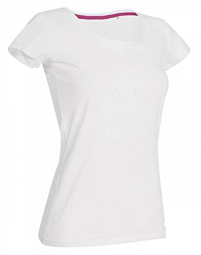 Women Crew Neck T-Shirt Claire White