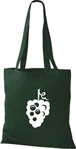 T-shirt Di Stoffa Di Cotone Tinta Unita La Tua Frutta E Verdura Preferita Colore Delluva Verde Rosa