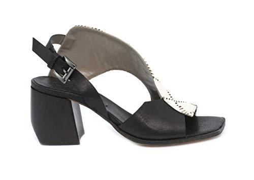 IXOS Sandalo Cardo Gesso/Nero Taglia 37 - Colore Bianco/Nero