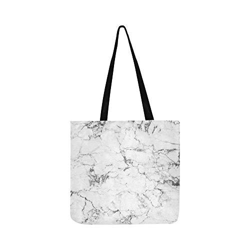 Strukturierte Leinwand Kunst (Weißer Marmor verwendet machen schwarz strukturierte Leinwand Tote Handtasche Schultertasche Crossbody Taschen Geldbörsen für Männer und Frauen einkaufen Tote)