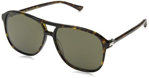 Gucci Herren GG0016S-003 Sonnenbrille, Braun (Havana), 58