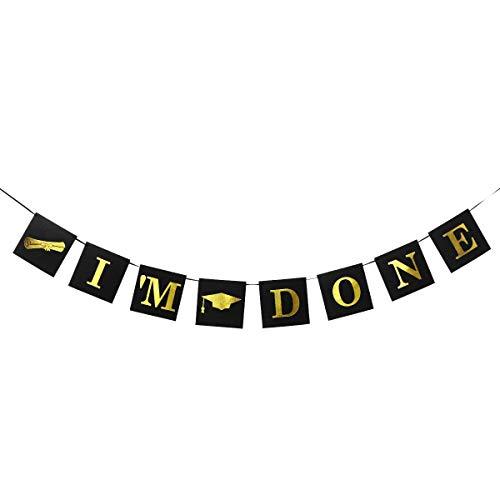 r Ich bin fertig Dekor Papier hängen Banner für Abschluss Graduierte Studentenparty (2,5 m) ()