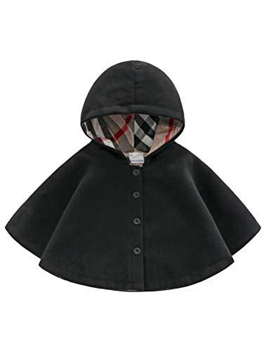 (ARAUS Jacke Baby Mädchen Kindkleidung Jungen Unisex Cloak Umhang Mantel mit Kapuze Herbst Jacke Winter Warm Poncho 2-8 Jahre)