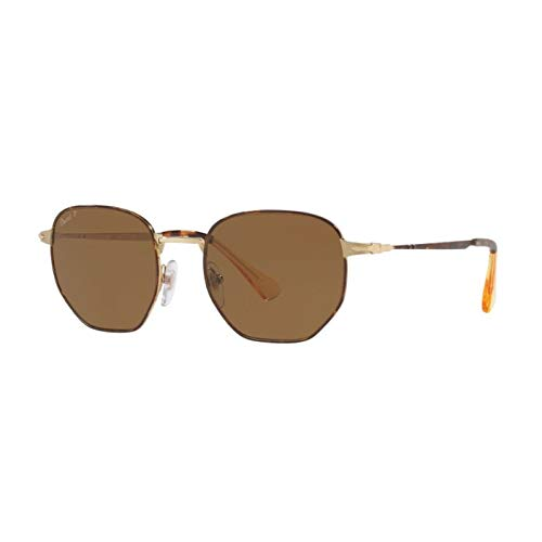 Persol Herren 0Po2446S 107557 52 Sonnenbrille, Gold/Brownpolar