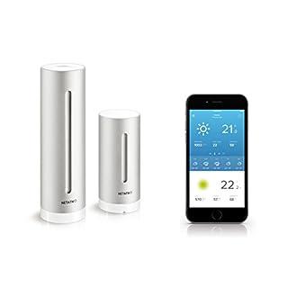 Netatmo Wetterstation innen und außen mit Außensensor und Wettervorhersage, funktioniert mit Amazon Alexa