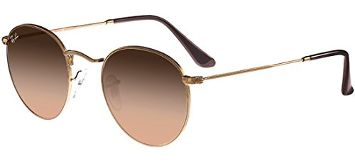 Ray-Ban RB3447 9001A5 Helle Bronze glänzend RB3447 Round Sunglasses Lens Category 3 Size 47mm