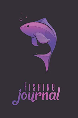 Fishing Log Book: Essential Fishing Accessory Notebook For The Serious Fisherman To Record Fishing Trip Experiences (time, day, location, equipment, ... for Fisherman - Purple gradient cover Design