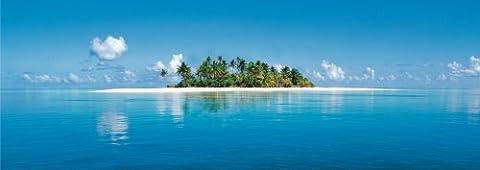 1art1 40523 Inseln - Malediven 4-teilig, Fototapete Poster-Tapete (366 x 127 cm)