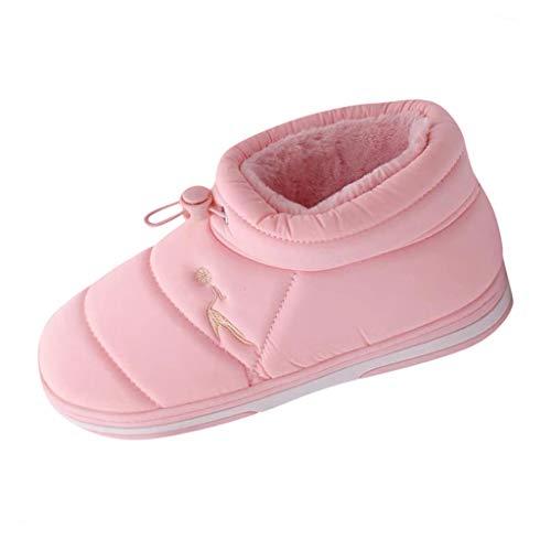Zegeey Damen Hausschuhe Schlafzimmer Schuhe Pantoffeln Hausschlappen Home Slippers Pink GrüN Lila Wein(Rosa,250EU)