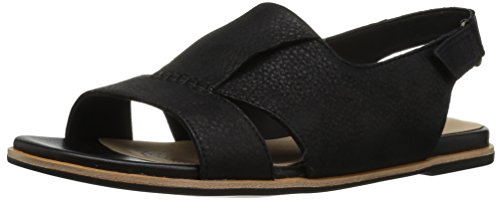 na Rayne Sandal, Black Leather, 6.5 Medium US ()