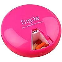 Kbsin212 6 Stück Pillendosen Rund Tablettendose Rund Pillendose Für 7 Tage Reisen Tablettenbox Mini Tragbar Pillenbox... preisvergleich bei billige-tabletten.eu