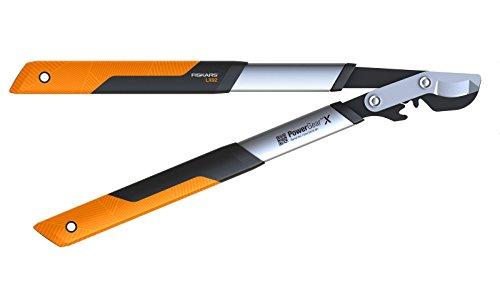 Fiskars PowerGear X Bypass-Getriebeastschere für frisches Holz, Antihaftbeschichtet, Gehärteter Präzisionsstahl, Länge: 57 cm, Schwarz/Orange, LX92-S, 1020186