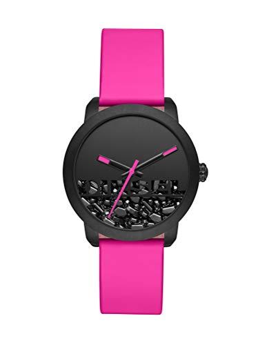 Diesel Damen Analog Quarz Uhr mit Leder Armband DZ5590