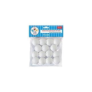 Dohe 18114 – Pack de 15 bolas poliespan, 25 mm
