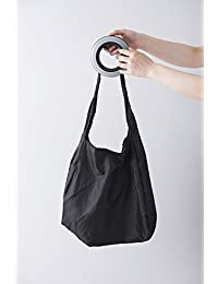 Fancyku Shrink Shopping Bag Round Plastic Handle Spiral Portable Storage Bags For Shopping (Transparent)