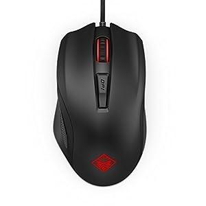 OMEN 600 Gaming Maus (kabelgebunden, bis 12.000 dpi, LED-Beleuchtung; 6 programmierbare Tasten) schwarz