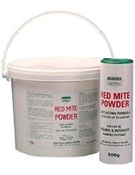 Barrera roja polvo ácaros - liberación lenta formulación durará hasta seis semanas Talla:500 g