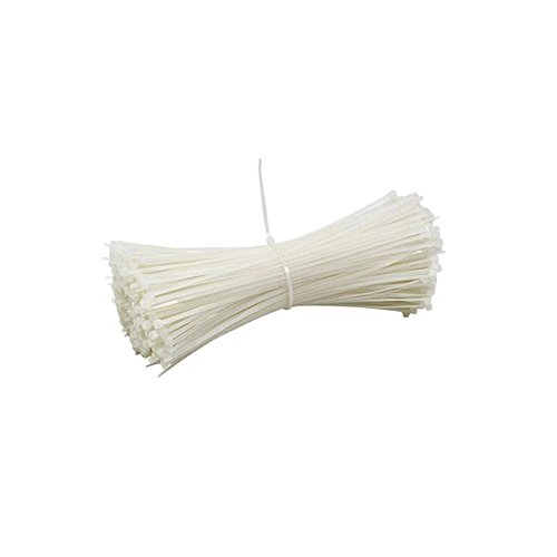 200 colliers nylon 2.5 x 200 mm Blanc
