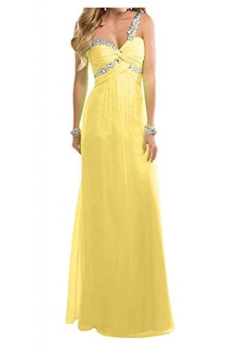 Toscana sposa amabile Empire Chiffon sera lungo Party vestimento lunga sposa giovane ball abiti da sera mode Giallo
