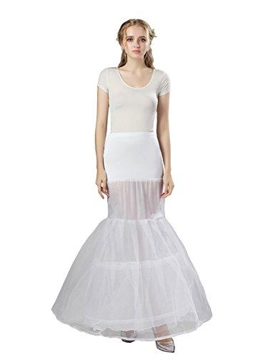 Sarahbridal Damen Mermaid 2 Ringe Petticoat Reifrock Fuer Brautkleid Abendkleider Ballkleid...